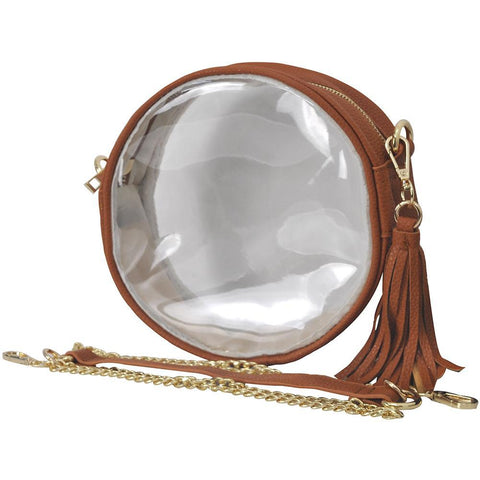 Light Brown College Clear Crossbody NGIL Stadium Bag