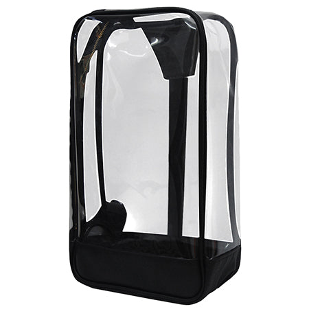 Black Faux Leather NGIL Clear Sling Backpack