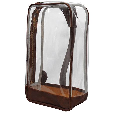 Brown Faux Leather NGIL Clear Sling Backpack