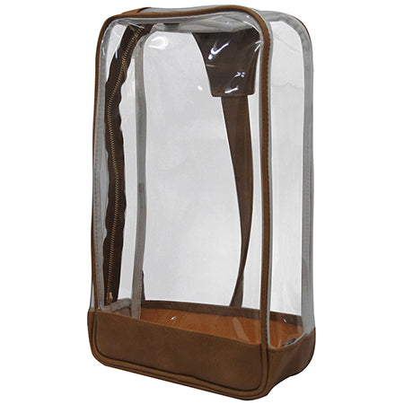 Light Brown Faux Leather NGIL Clear Sling Backpack