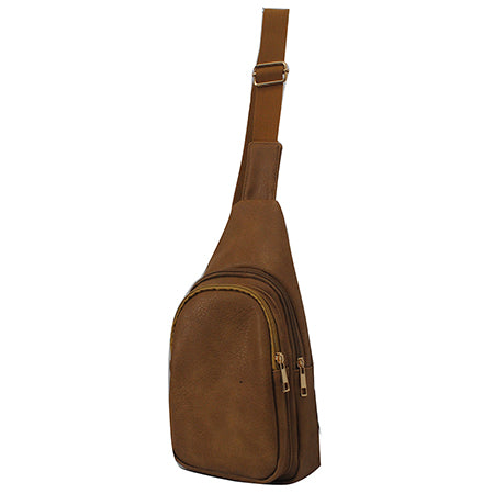 Light Brown NGIL Faux Leather Sling Bag