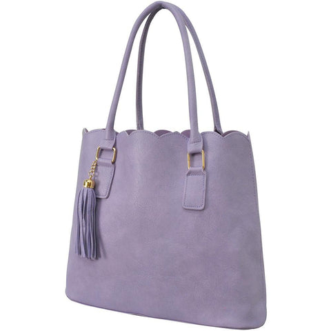 Violet NGIL Faux Leather Scallop Fashion Bag