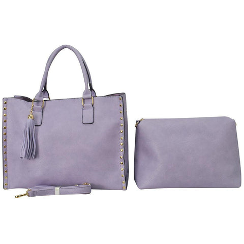 Violet NGIL Faux Leather 2-IN-1 Tassel Bag