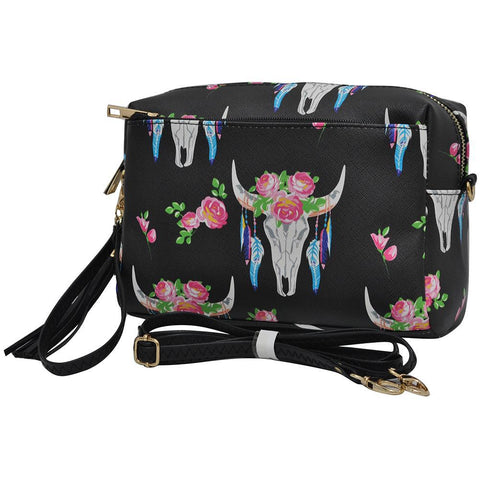 Bull Skull NGIL Faux Leather Tassel Crossbody