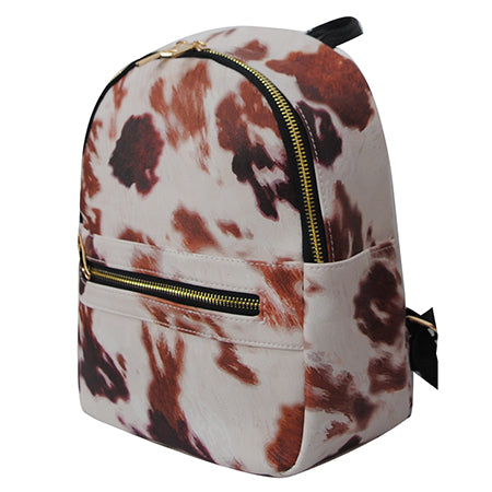Cow Print NGIL Faux Leather Mini Backpack