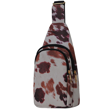 Cow Print NGIL Faux Leather Sling Bag