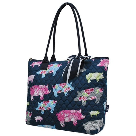 Pig in the Summer NGIL Quilted Tote Bag
