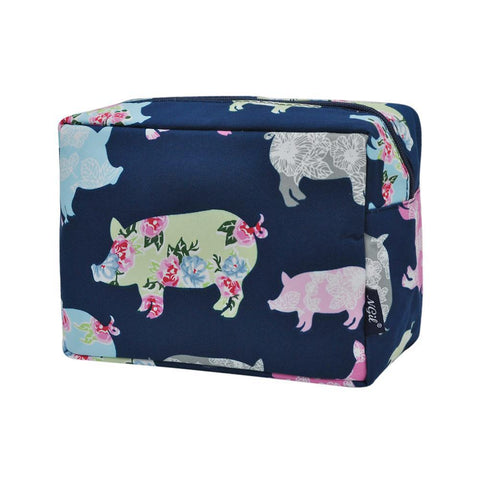 Cosmetic bags for travel, women's travel make up bag, makeup pouch for her, makeup bag gift purchase, cosmetic bags in bulk, cosmetic organizer for bathroom, travel pouch bags personalized, pig cosmetic bag,