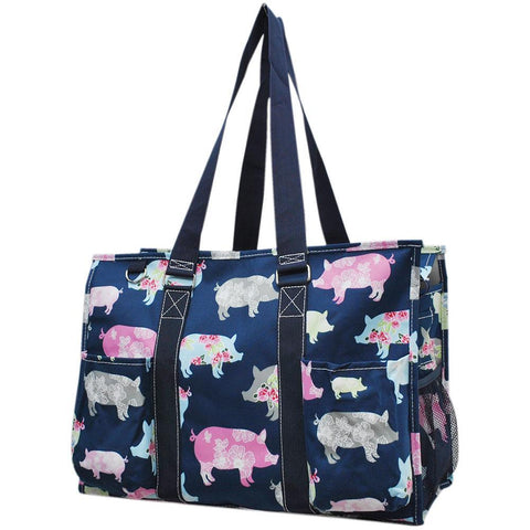 Pig in the Summer NGIL Zippered Caddy Large Organizer Tote Bag