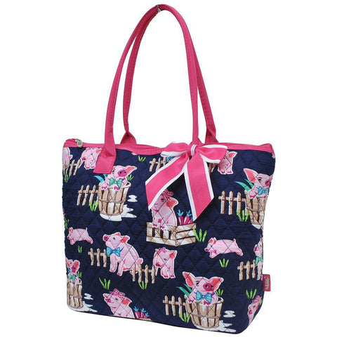 Happy Pig Town NGIL Quilted Tote Bag