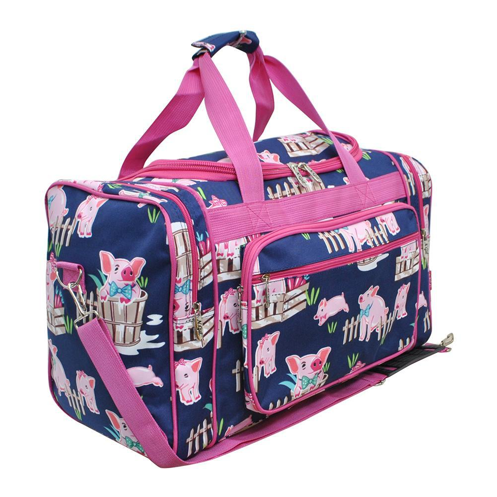 Training duffel bag, coach duffle bag, traveling duffle, monogram gift ideas, monogram gifts for women, monogram bags cheap, personalized duffle bags cheap, personalized duffle bag baby, personalized graduation gifts for her, pig duffle bag, pig print, navy duffle bag, hot pink duffle bag.