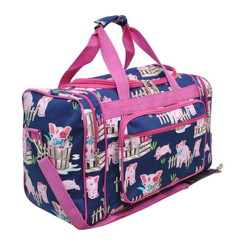 "Happy Pig Town NGIL Canvas 20"" Duffle Bag"