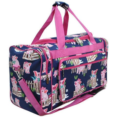 "Happy Pig Town NGIL Canvas 23"" Duffle Bag"
