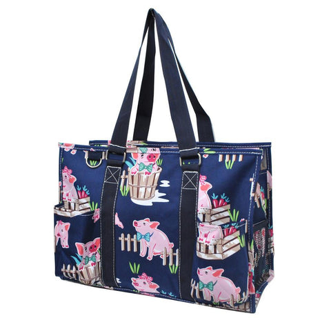 Happy Pig Town NGIL Zippered Caddy Organizer Tote Bag