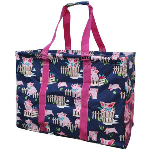 Happy Pig Town NGIL Mega Shopping Utility Tote Bag