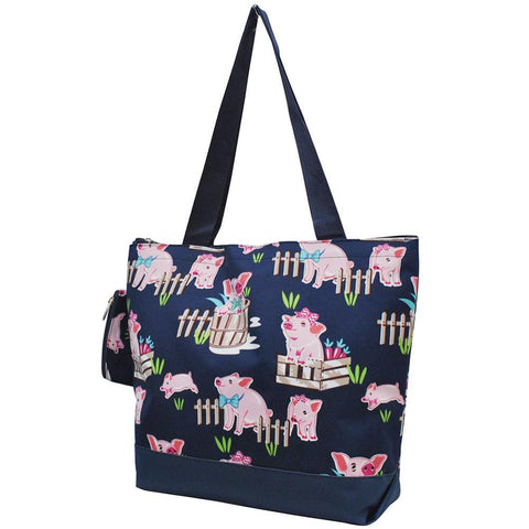 Happy Pig Town NGIL Canvas Tote Bag