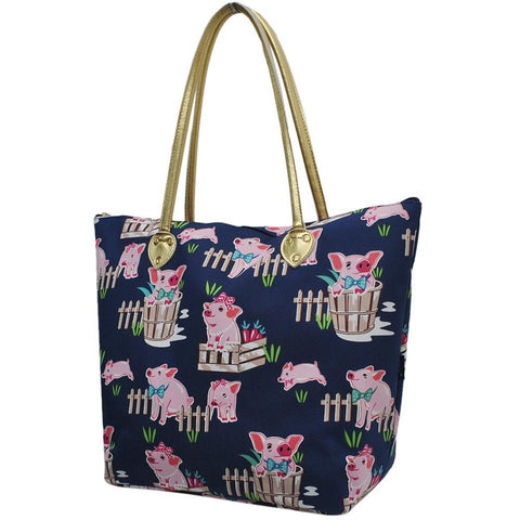 Monogrammed Zippered Tote Bag, monogram gifts for her, Monogram bags and tote, Gifts for her, monogram gifts, NGIL Brand, custom tote bags with zipper, wholesale tote bags with zipper, pig tote for women, cute navy tote bag, navy tote for school, navy pig tote for work, nice tote bags for school.