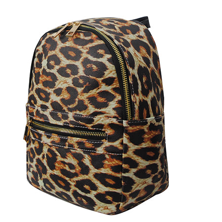 Wild Leopard NGIL Faux Leather Mini Backpack