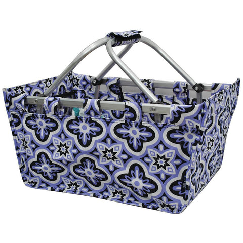 SALE ! Quatrefoil Paradise NGIL Canvas, Shopping, Market, Picnic Basket