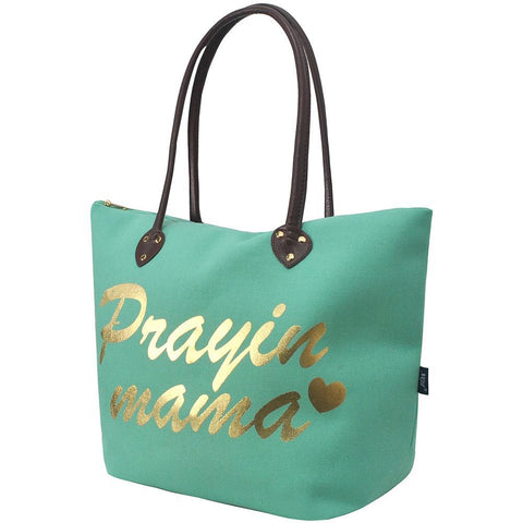 Prayin' Mama Mint NGIL Tote Bag