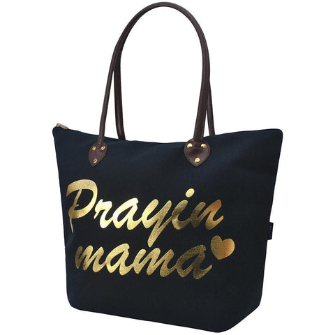 Tote for women zipper, monogram tote bags in bulk, navy tote bag, praying mama navy tote bag, cute navy tote, tote bags, monogram bags totes, monogram tote for women, monogram NGIL Brand, monogram travel accessories, monogram tote for women zipper, ngil utility tote,