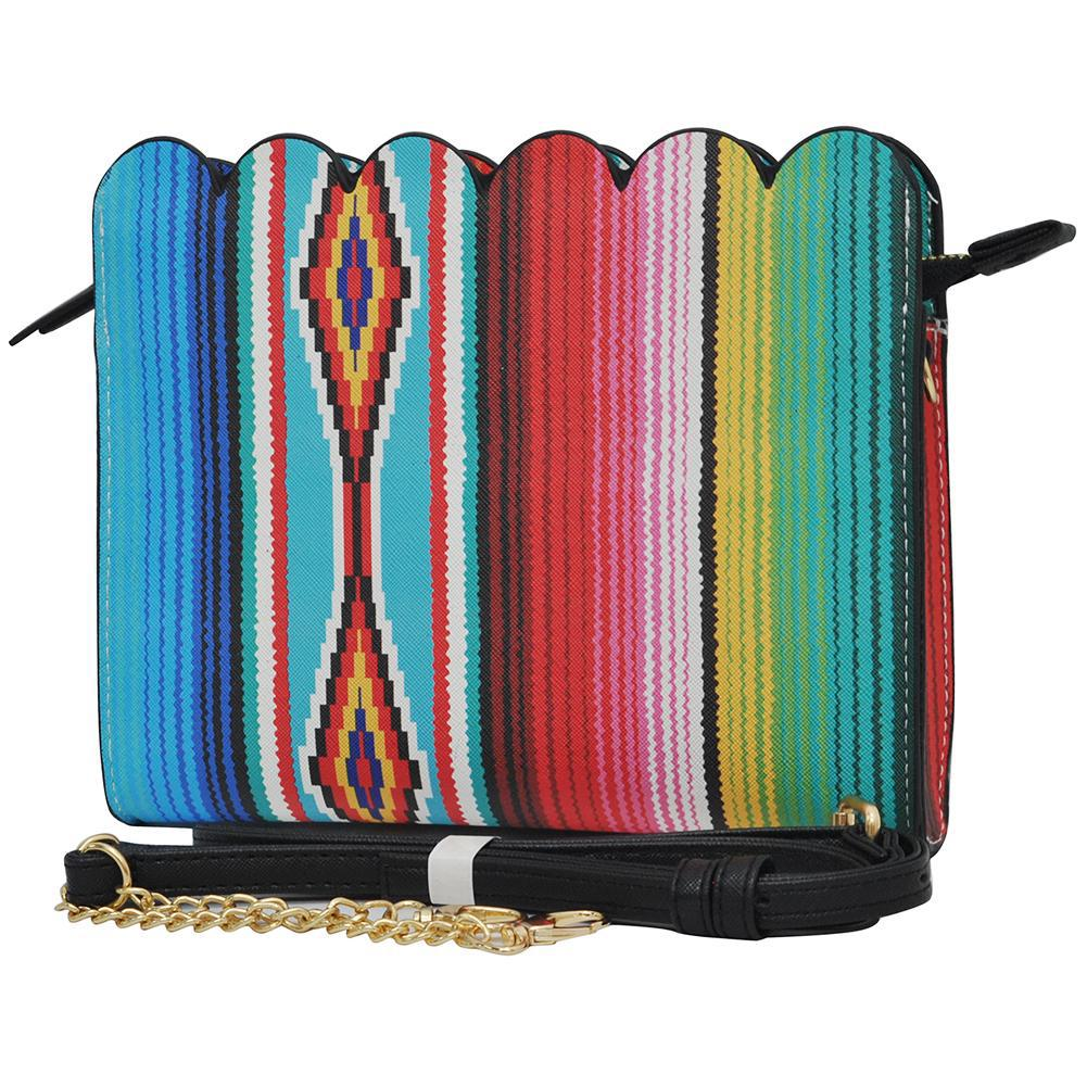 Serape NGIL Leather Scallop Crossbody