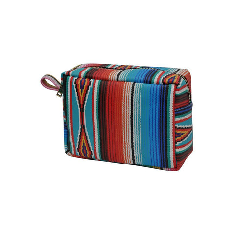 Serape NGIL Faux Leather Large Cosmetic Travel Pouch