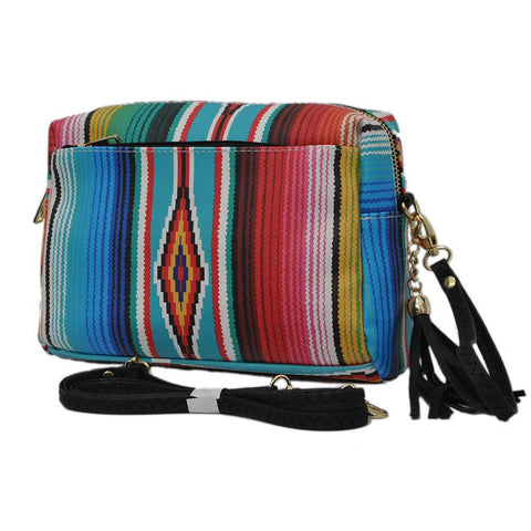 Serape NGIL Faux Leather Tassel Crossbody