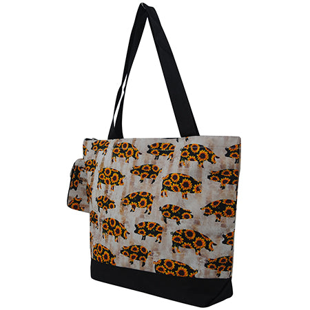 Sunflower Pigs NGIL Canvas Tote Bag