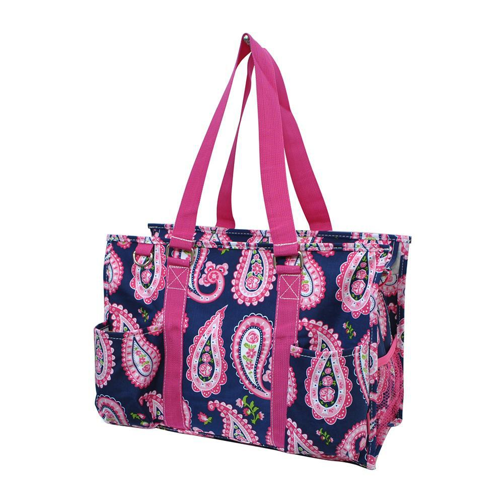Paisley NGIL Zippered Caddy Organizer Tote Bag