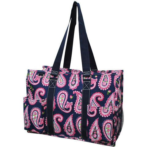 Paisley NGIL Zippered Caddy Large Organizer Tote Bag