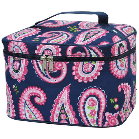 Personalized cosmetic bag for sale, makeup bag large, makeup bag for teens for bridesmaids, makeup organizer case, travel makeup bags personalized, cosmetic pouches wholesale, paisley print makeup bag, paisley makeup case