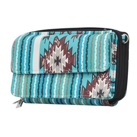 Southern Aqua Serape NGIL Faux Leather All In One Wallet