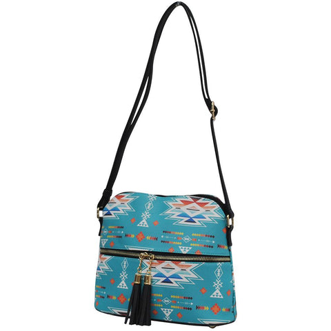 SALE! Southern Aztec and Serape NGIL Leather Tassel Tote Crossbody
