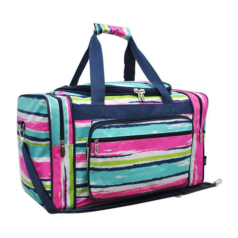 "Rainbow Stripes NGIL Canvas 20"" Duffle Bag"