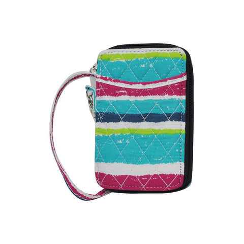 Rainbow Stripes NGIL Quilted Wristlet Wallet