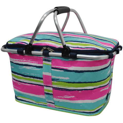 Rainbow Stripes NGIL Insulated Market Basket