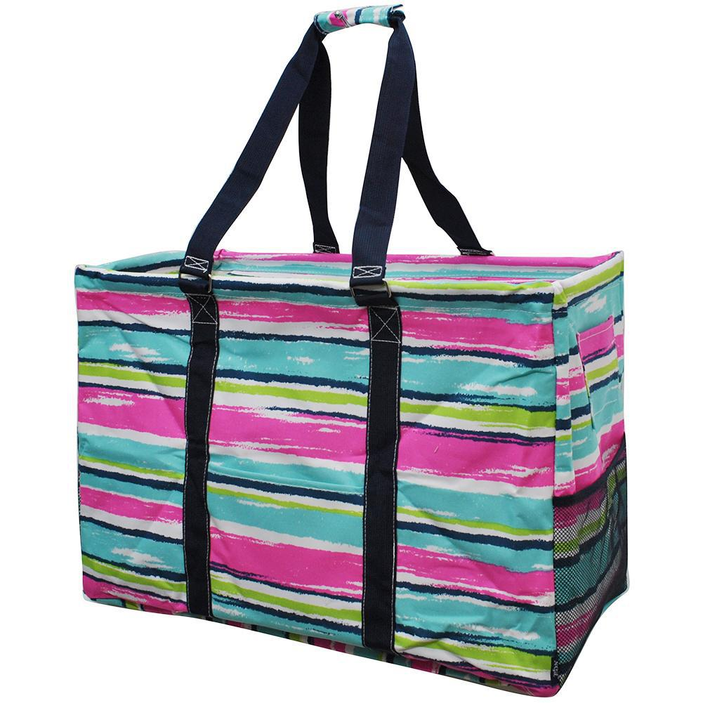 Rainbow Stripes NGIL Mega Shopping Utility Tote Bag