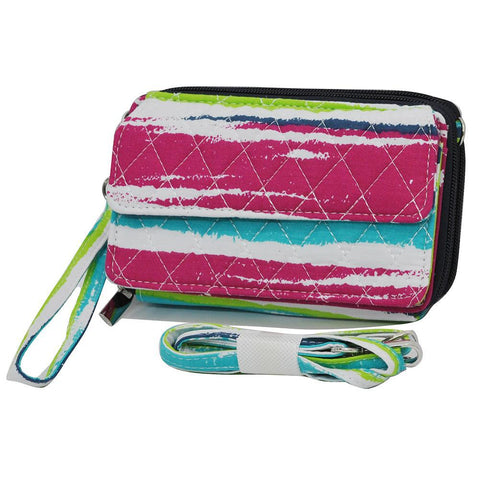 Rainbow Stripes NGIL Quilted All In One Wallet