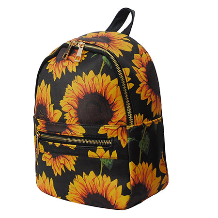 Sunflower NGIL Faux Leather Mini Backpack