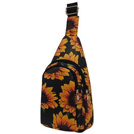 Sunflower NGIL Faux Leather Sling Bag