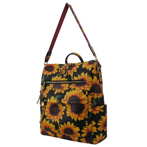 Sunflower Faux Leather NGIL Over the Shoulder Backpack