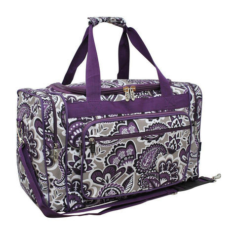"Purple Paisley Park NGIL Canvas 20"" Duffle Bag"