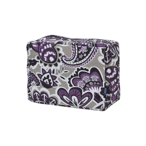 Purple Paisley Park NGIL Large Cosmetic Travel Pouch