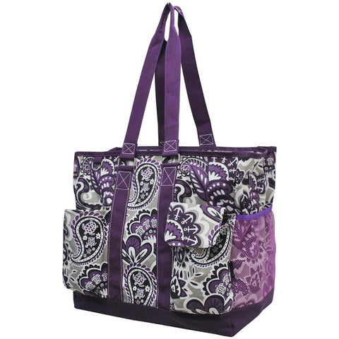 Purple Paisley Park NGIL Tall Canvas Tote Bag
