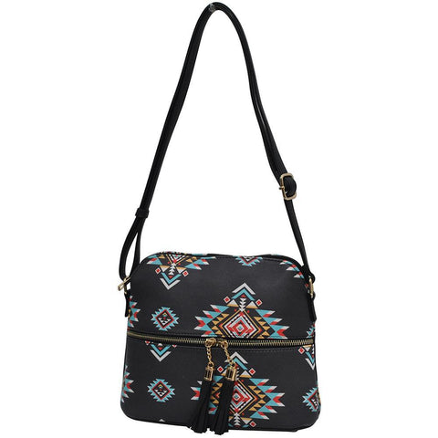 Southern Tribe NGIL Faux Leather Tassel Tote Crossbody