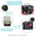 Wholesale prices bridal gift ideas, serape inspired cute cosmetic case wholesale, canvas material water resistant small makeup case, cheap bulk colorful rooster hair accessories bag, black top handle zipper mini cosmetic bag