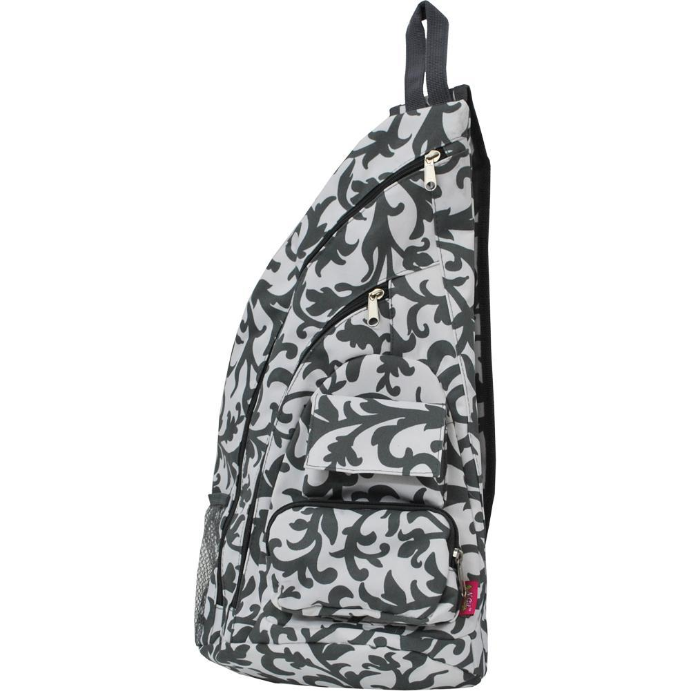 Grey Damask NGIL Sling Backpack