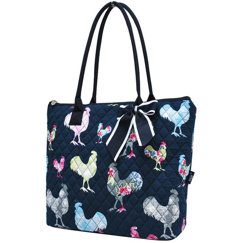 Rooster NGIL Quilted Tote Bag