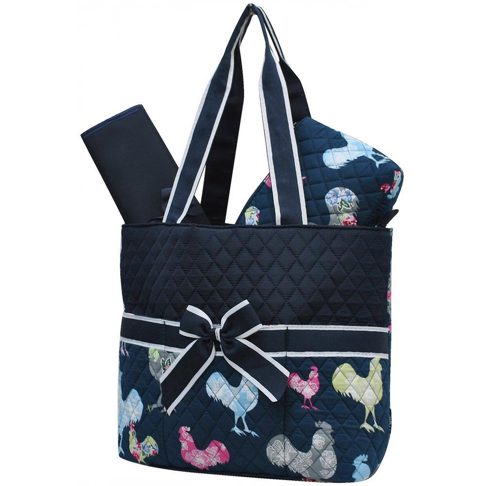 Rooster NGIL Quilted 3pcs Diaper Bag